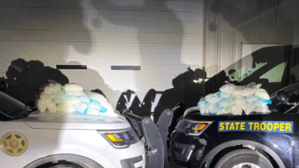 defendants in custody after meth bust